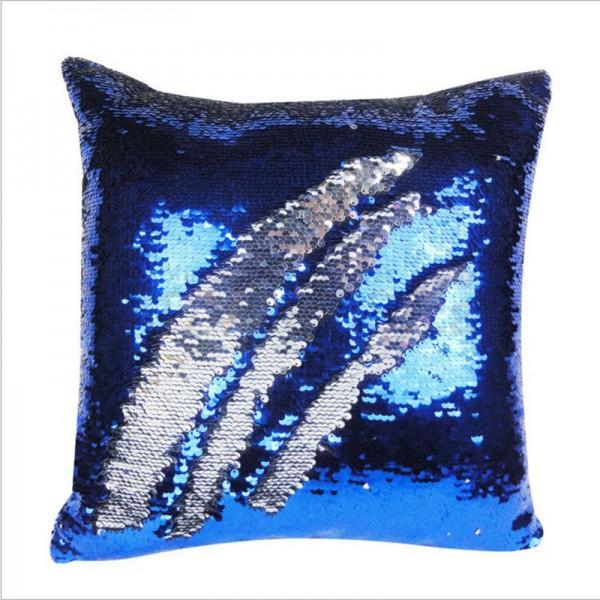 Sublimation Sequin Reversible Blue / Silver Pillowcase, 40x40 cm.