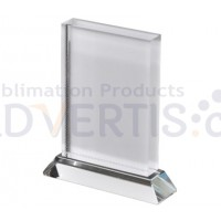 Sublimation Vertical Glass Crystal, 11x16 cm.