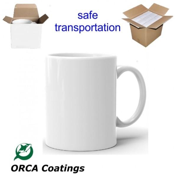 11oz. ORCA White Sublimation Ceramic Coffee Mug with Individual Gift Box (36 pack) (GTA Warehouse)