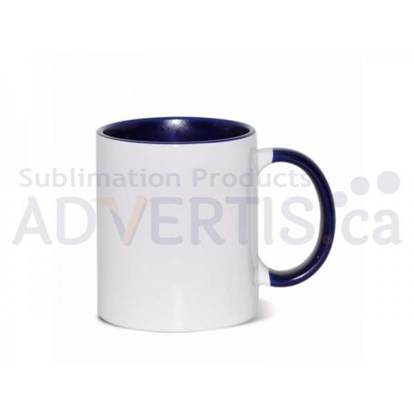11oz. Sublimation Dark Blue Inner and Handle Ceramic Coffee Mug With Individual Gift Box (36 pack)