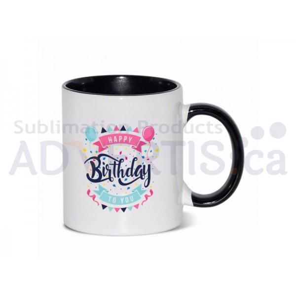 11oz. Sublimation Black Inner and Handle Ceramic Coffee Mug (36 pack)