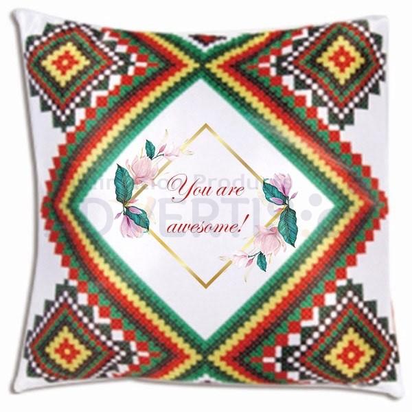 Sublimation Square Pillowcase, 41x41 cm.