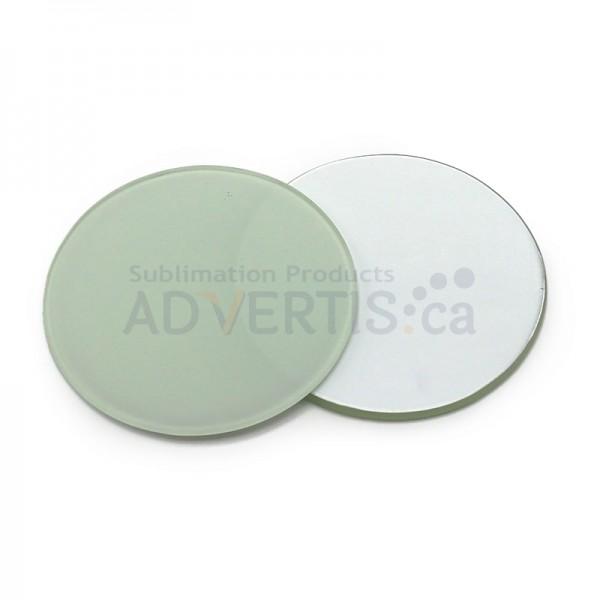 Sublimation Round Glass Mug Coaster, 10 cm (4 pcs)