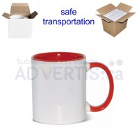 11oz. Sublimation Red Inner and Handle Ceramic Coffee Mug With Individual Gift Box (36 pack)