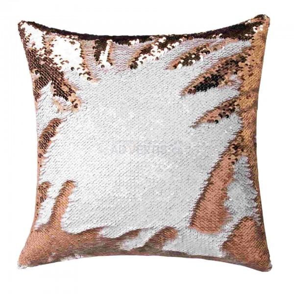 Sublimation Sequin Reversible Rose Gold / White Pillowcase, 40x40 cm.