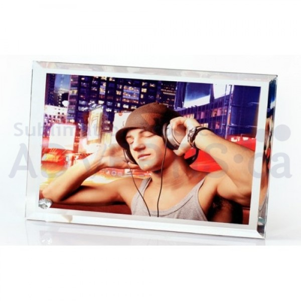 Sublimation Glass Frame with Bevel Edge, 18x23 cm.