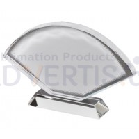 Sublimation Fan Shaped Glass Crystal, 23x15 cm.