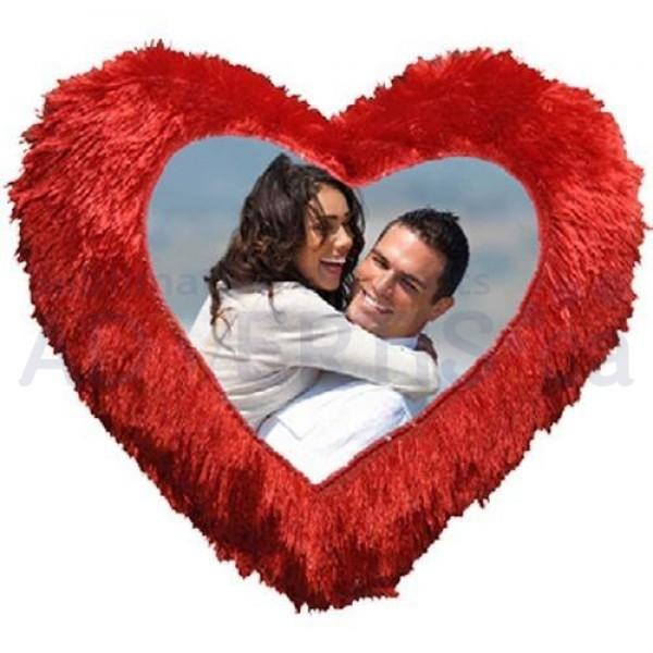 Sublimation Heart Pillowcase, 43x25 cm.