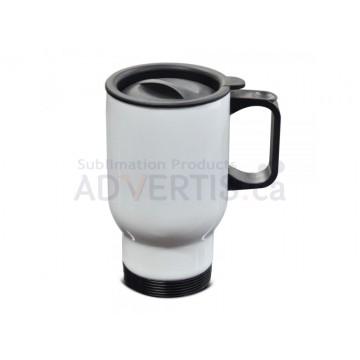 14oz. (600 ml.) Sublimation  White Car Travel Stainless Steel Mug