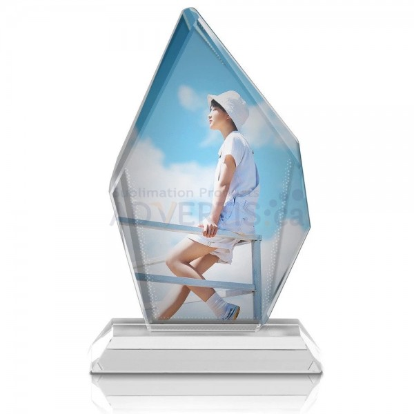 Sublimation Big Ice Hill Screen Glass Crystal, 15x22 cm.