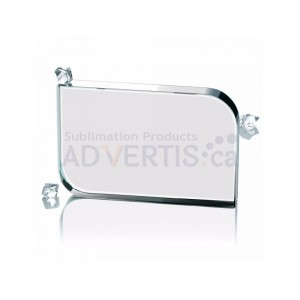 Sublimation Smooth Square Glass Crystal, 10x15cm.