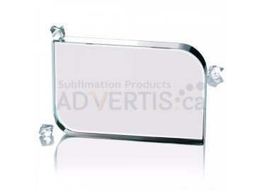 Sublimation Smooth Square Glass Crystal, 10x15 cm.