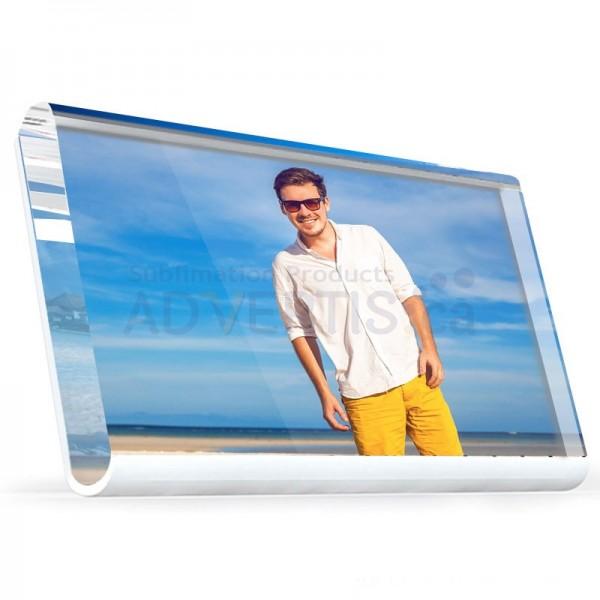 Sublimation Glass Crystal Photo Frame Round Edge, 20x11.7 cm.
