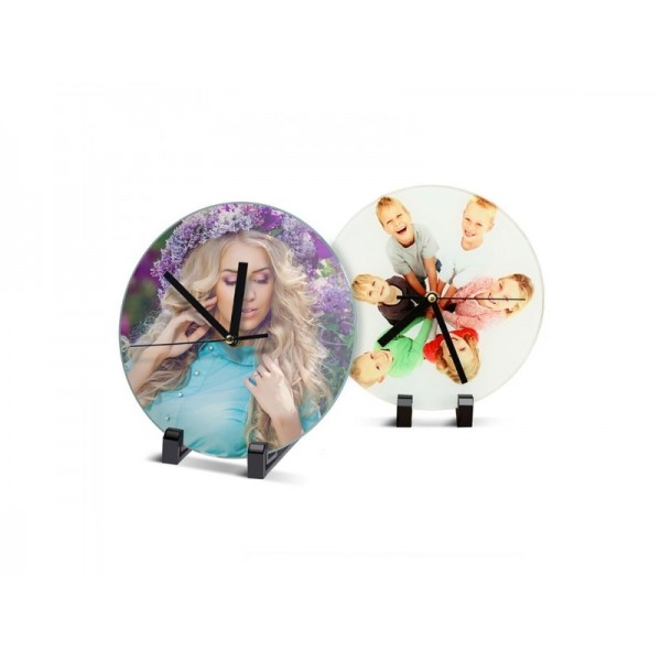 Sublimation Round Clock Glass Frame, 18 cm.