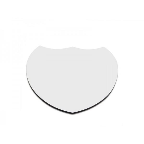 Sublimation MDF Heart Shape Mug Coaster, 10x10 cm (6 pcs)