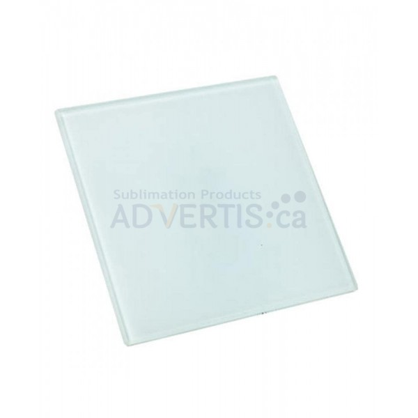Sublimation Square Glass Mug Coaster, 10 cm (4 pcs)