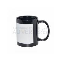 11oz. Sublimation Black Ceramic Coffee Mug with Printable White Area (12 pack)
