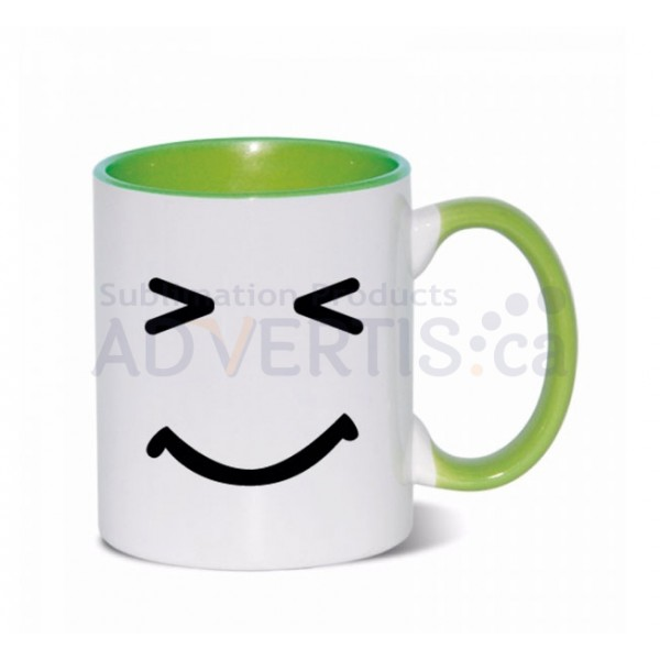 11oz. Sublimation Light Green Inner and Handle Ceramic Coffee Mug (36 pack)
