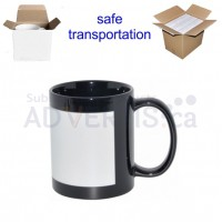 11oz. Sublimation Black Ceramic Coffee Mug with Printable White Area with Individual Gift Box (36 pack)