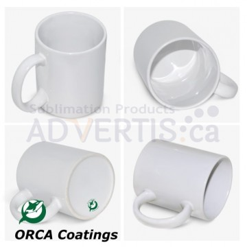 11oz. ORCA White Sublimation Ceramic Coffee Mug (36 pack) (GTA Warehouse)