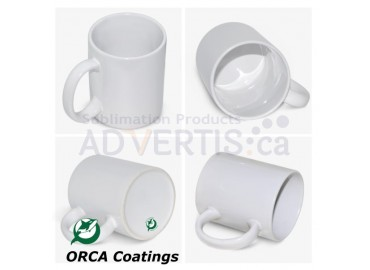 11oz. ORCA White Sublimation Ceramic Coffee Mug with Individual Gift Box (36 pack)