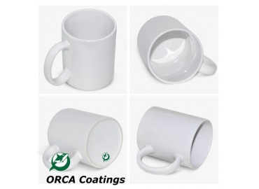 11oz. ORCA White Sublimation Ceramic Coffee Mug with Individual Gift Box (36 pack)