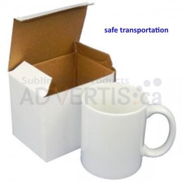 11oz. White Sublimation Ceramic Coffee Mug with Individual Gift Box (12 pack)