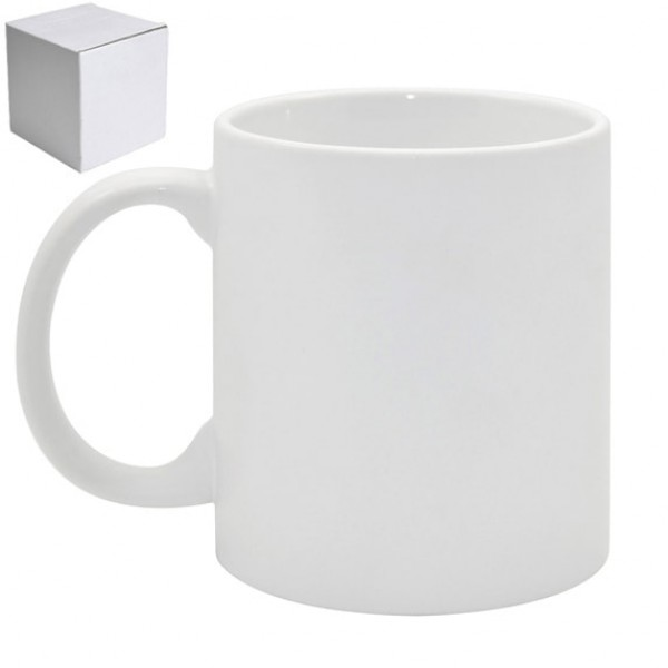 11oz. White Sublimation Ceramic Coffee Mug with Individual Gift Box (36 pack)