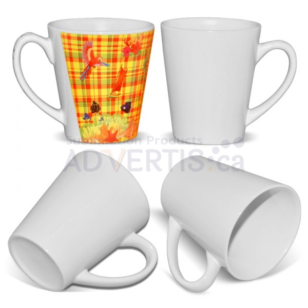 12oz. White Sublimation Ceramic Conical Mug with Individual Gift Box (355-ml.) (36 pack)