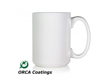 15oz. ORCA White Sublimation Ceramic Coffee Mug (36 pack)