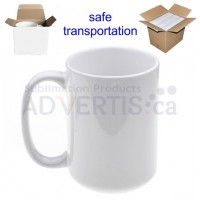15oz. White Sublimation Ceramic Coffee Mug With Individual Gift Box (36 Pack)