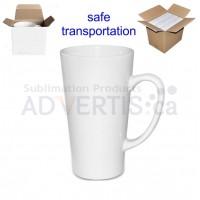 17oz. White Sublimation Ceramic Conical Latte Mug With Individual Gift Box (500 ml) (12 pack)