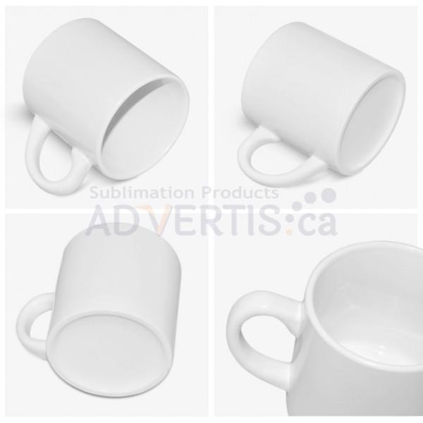6oz. White Sublimation Ceramic Coffee Mug (12 pack)