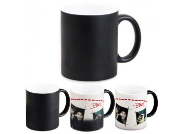 11oz. Sublimation Matte Black Magic Color Changing Ceramic Coffee Mug (36 Pack)