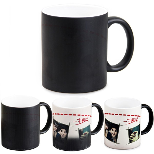 11oz. Sublimation Matte Black Magic Color Changing Ceramic Coffee Mug with Individual Box (36 Pack)
