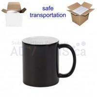 11oz. Sublimation Glossy Black Magic Color Changing Ceramic Coffee Mug with Individual Box (36 Pack)
