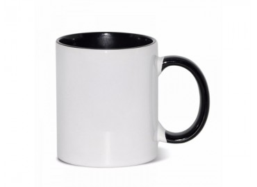 11oz. Sublimation Black Inner and Handle Ceramic Coffee Mug (12 pack)