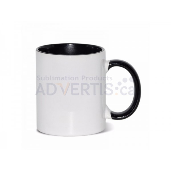 Sublimation Inner and Handle Black Ceramic Coffee Mug (12 pack)