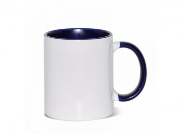 11oz. Sublimation Dark Blue Inner and Handle Ceramic Coffee Mug (36 pack)