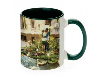 11oz. Sublimation Green Inner and Handle Ceramic Coffee Mug (12 pack)