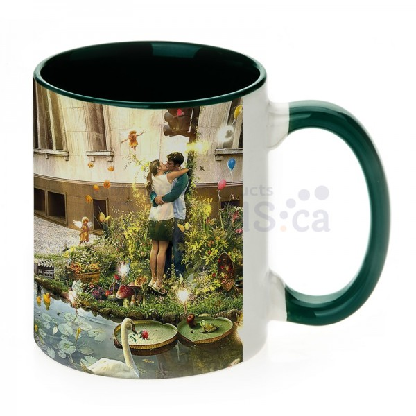 11oz. Sublimation Green Inner and Handle Ceramic Coffee Mug (36 pack)