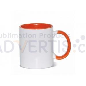 Sublimation Inner and Handle Orange Ceramic Coffee Mug (12 pack)