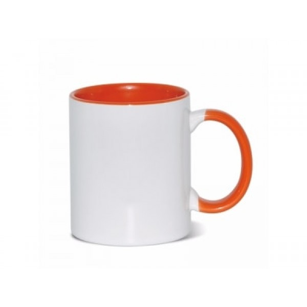 11oz. Sublimation Orange Inner and Handle Ceramic Coffee Mug With Individual Gift Box (36 pack)