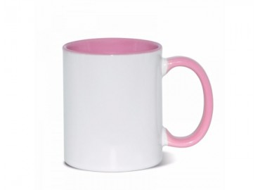11oz. Sublimation Pink Inner and Handle Ceramic Coffee Mug (12 pack)