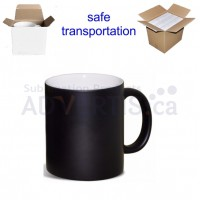 11oz. Sublimation Matte Black Magic Color Changing Ceramic Coffee Mug with Individual Box (36 Pack)