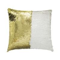 Sublimation Sequin Reversible Gold / White Pillowcase, 40x40 cm.