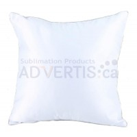 Sublimation Square White Polyester Pillowcase with Silver Edge, 40x40 cm.