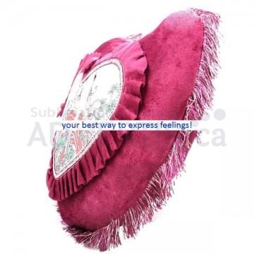 Sublimation Heart Pillowcase, 44x30 cm.