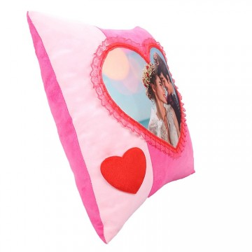 Sublimation Heart Pillowcase, 40x40 cm.