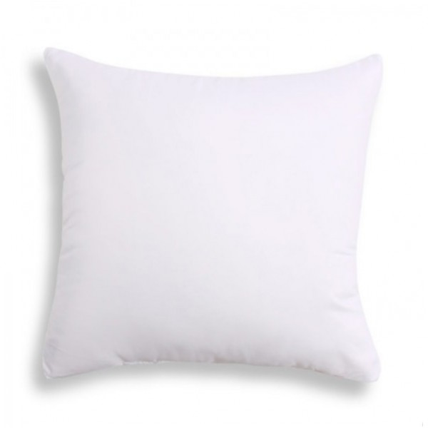 Sublimation Square Pure White Polyester Pillowcase, 40x40 cm.